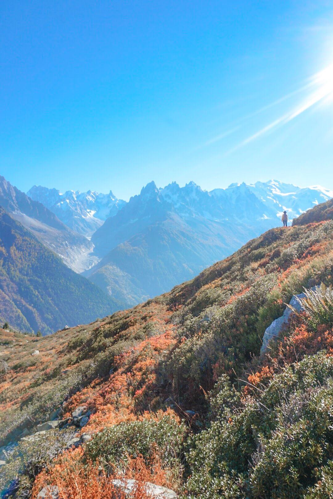 vue mont blanc flégère randonnée