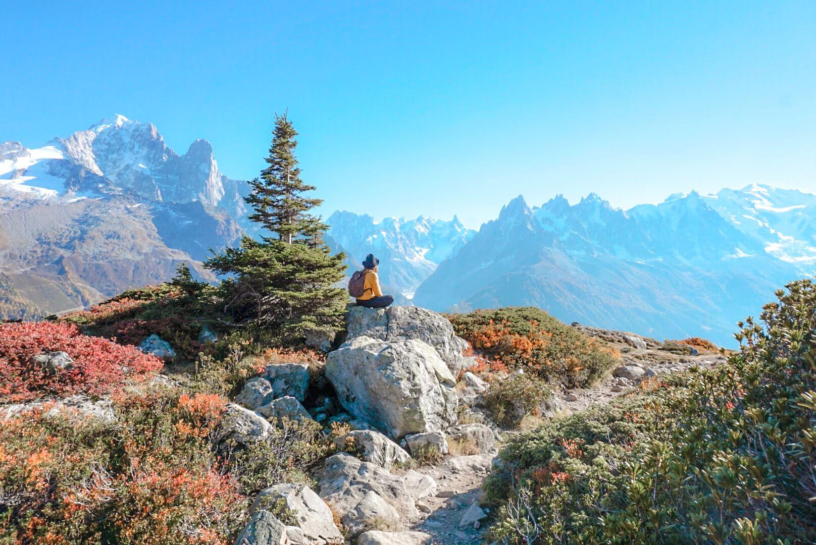 randonnée automne lac blanc cheserys chamonix