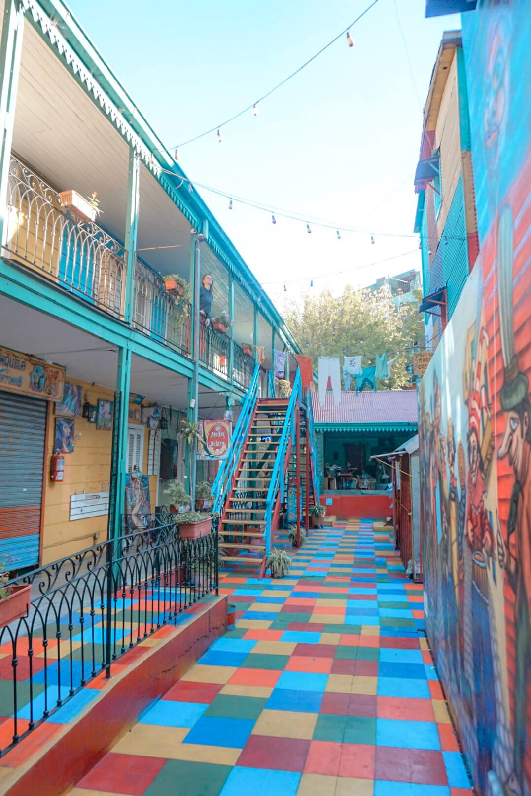rues colorées buenos aires la boca argentine