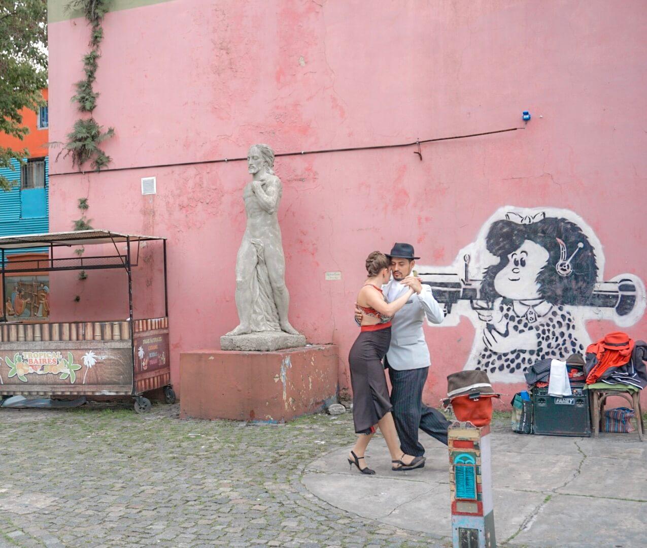danse tango rues buenos aires argentine