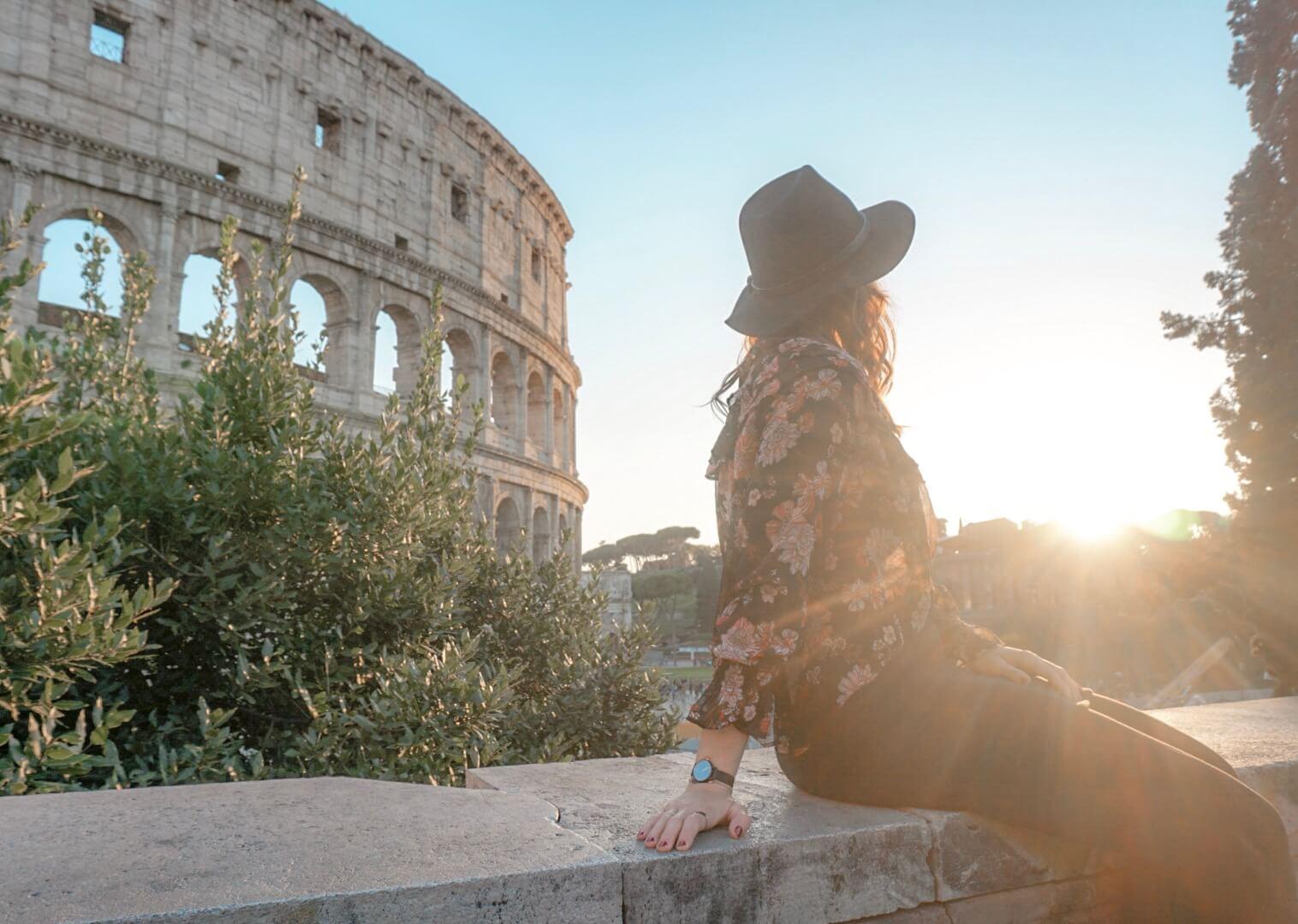 meilleur point de vue sur le colisée rome italie