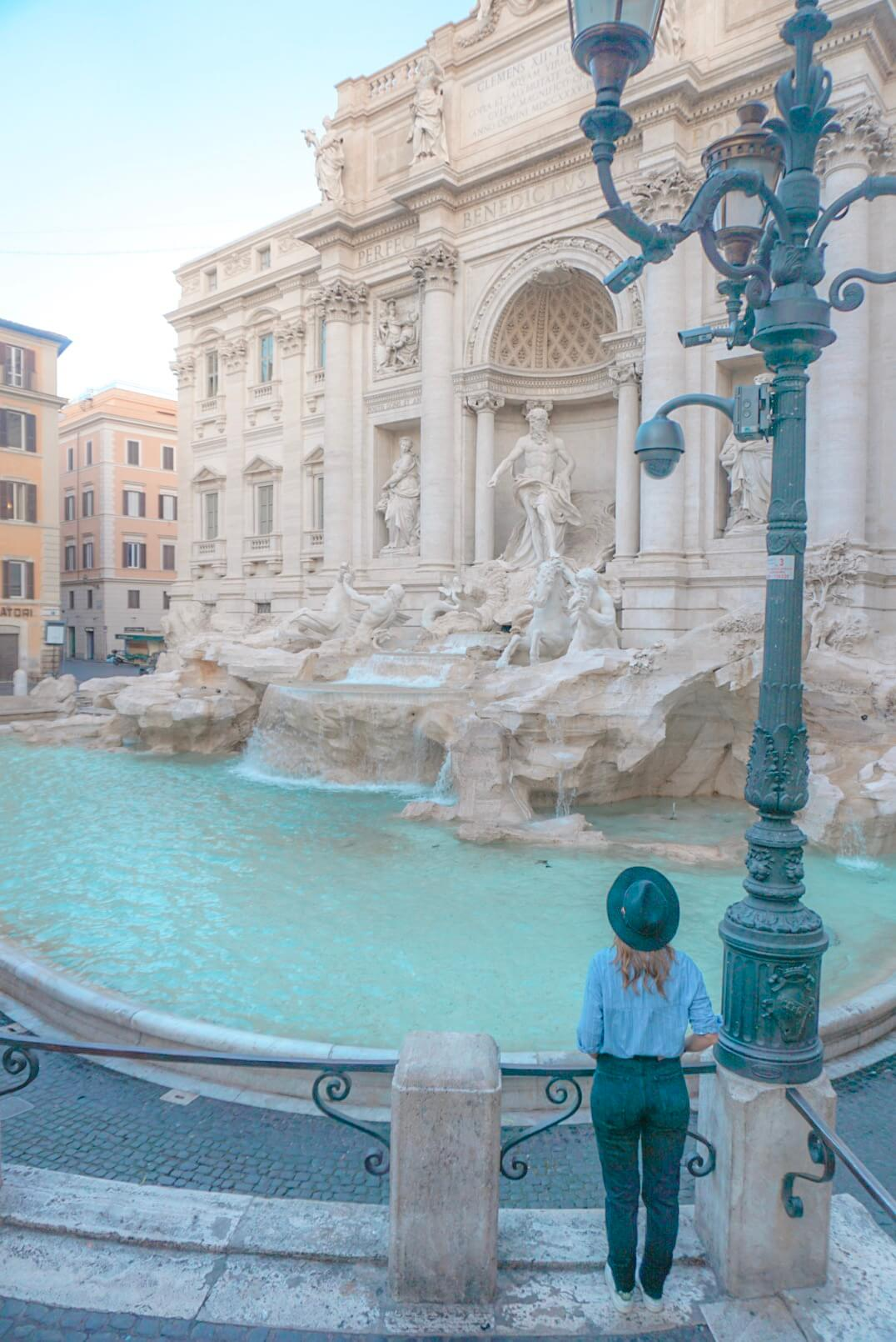 Visiter rome fontaine trevi