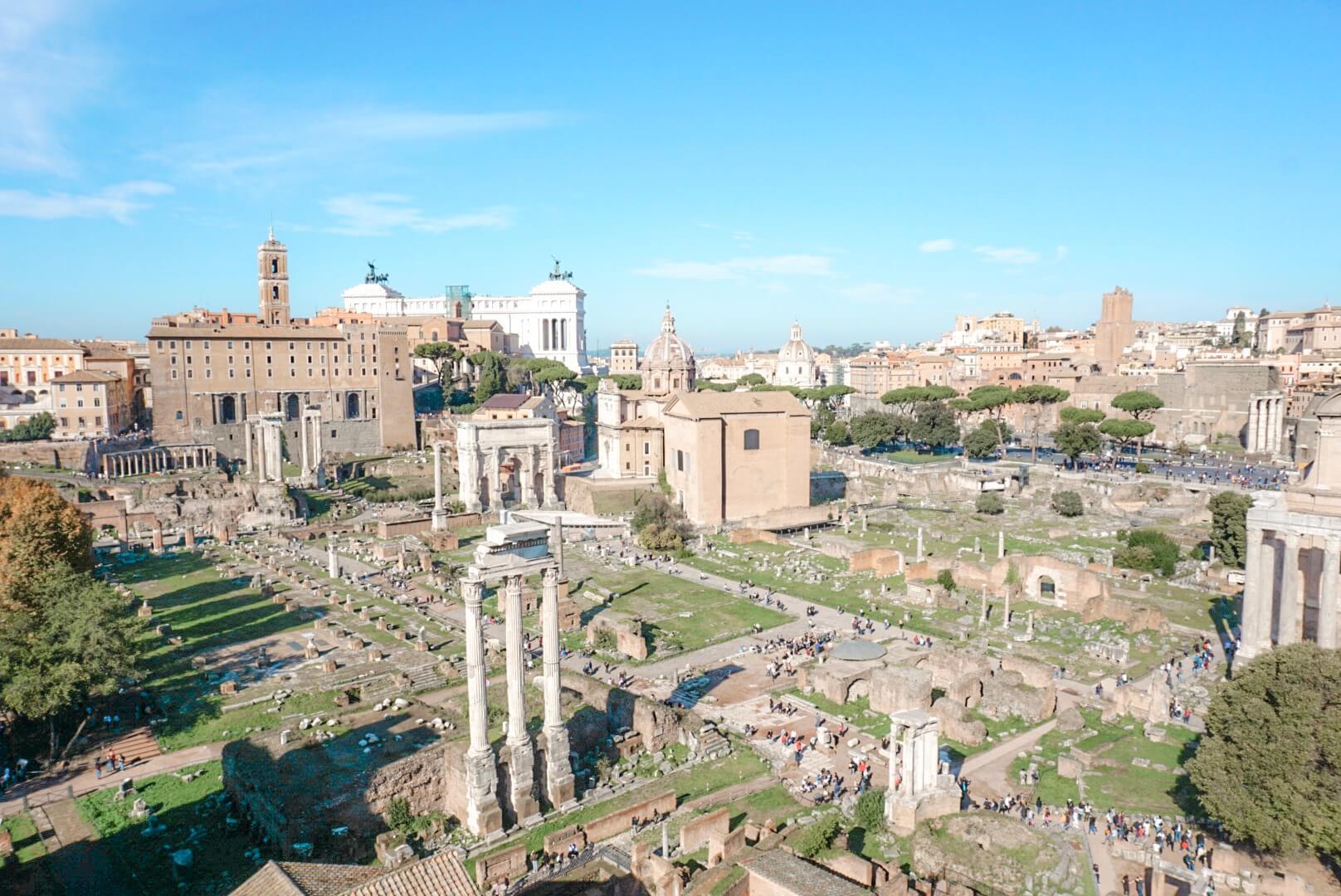 voir panorama forum et palatin rome