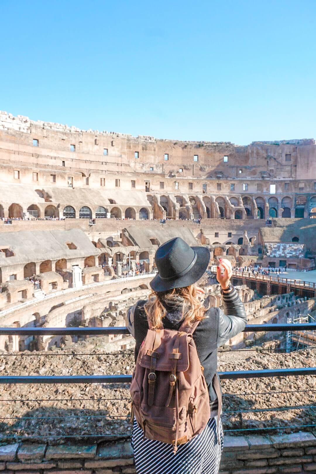 visiter intérieur colisée rome merveille