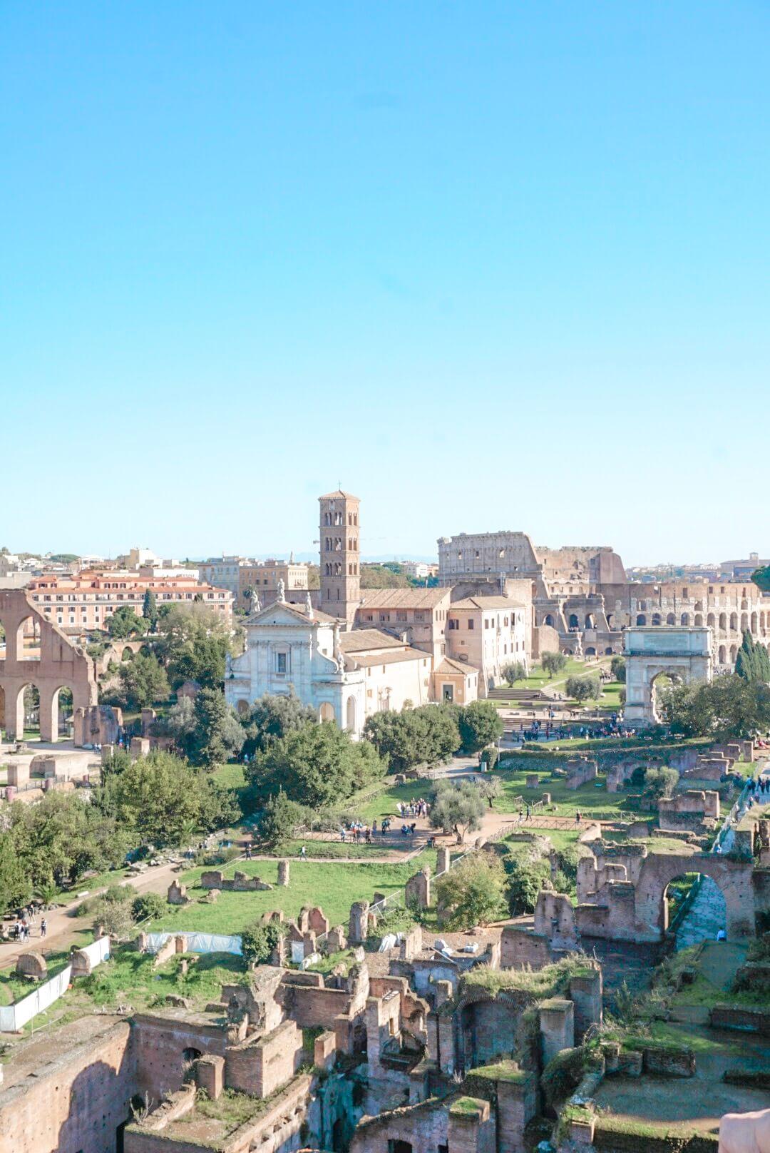 visiter palatin et forum romain