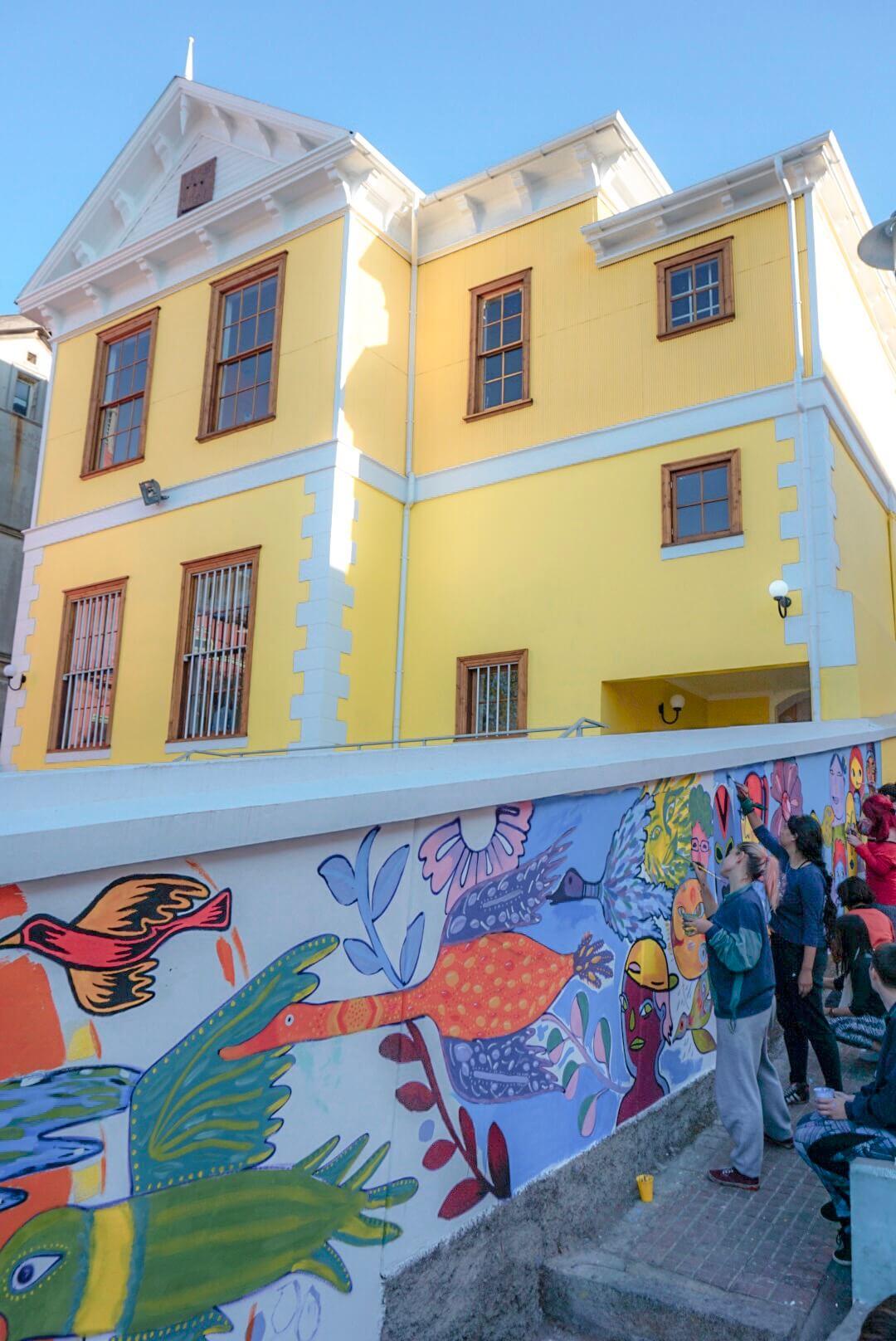 street art et tags à valparaiso