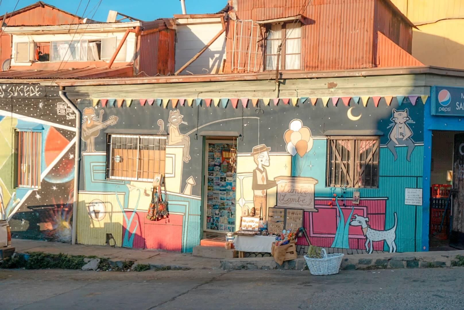 ou voir street art valparaiso chili
