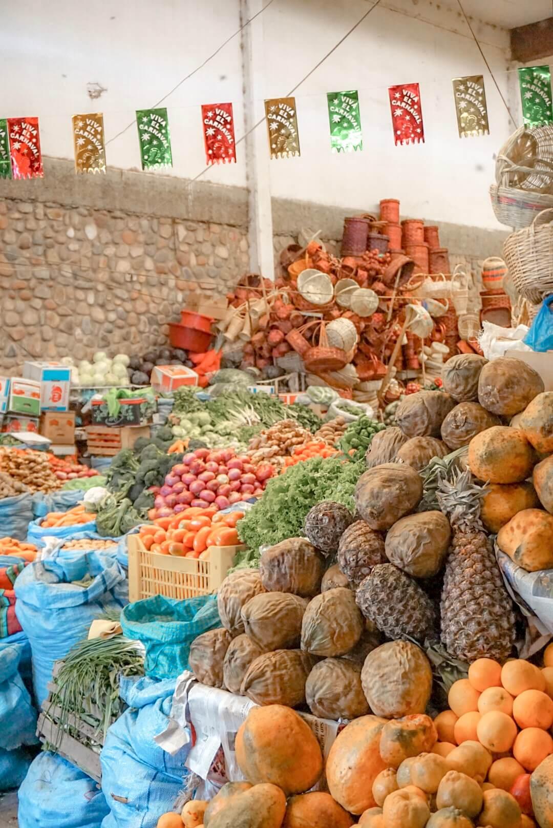 visiter sucre et son marché bolivie