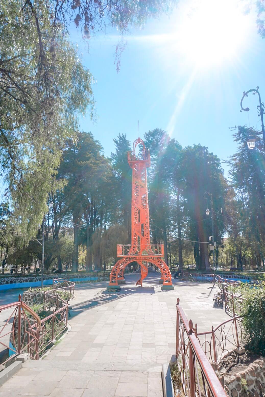 visiter parc simon bolivar sucre bolivie