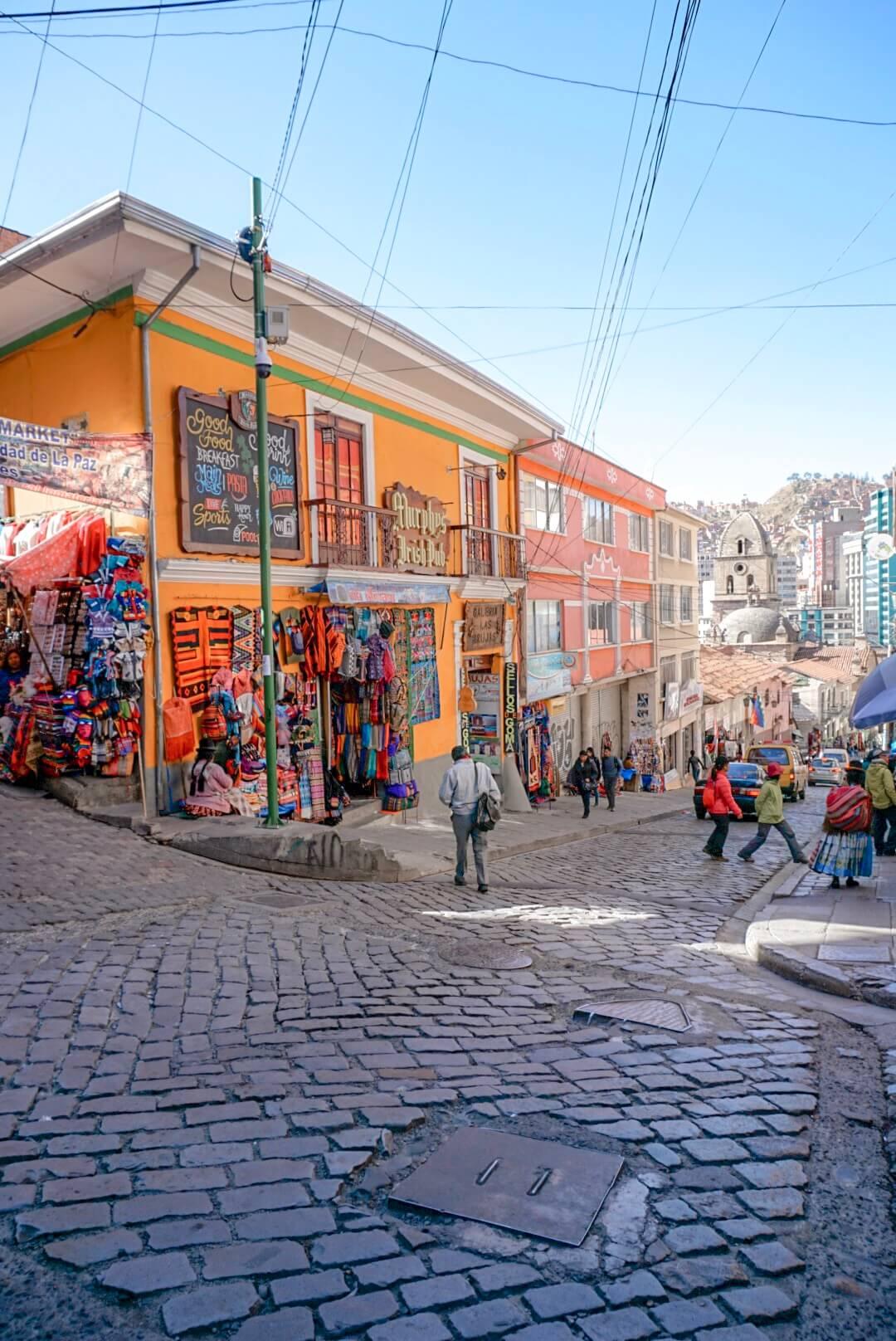 visiter rue colorée la paz bolivie