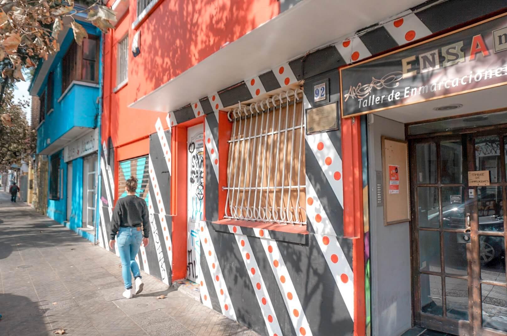santiago du chili quartier bellavista blog
