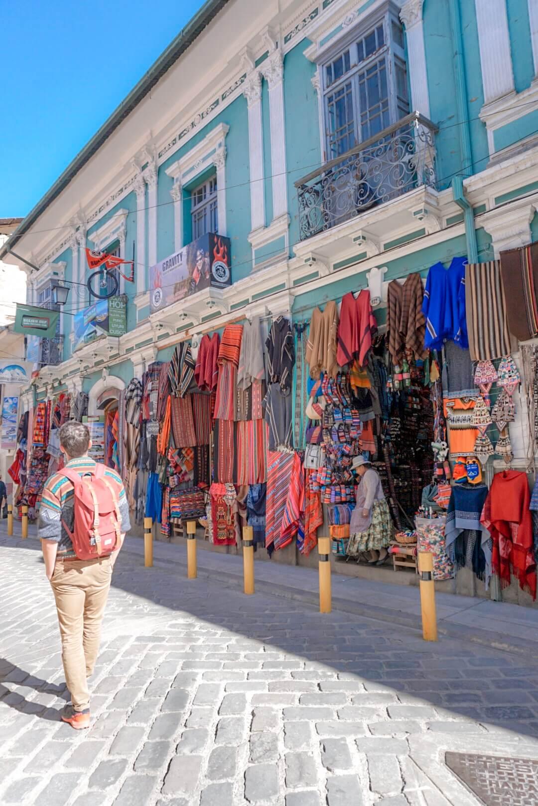 quartier boutiques la paz bolivie