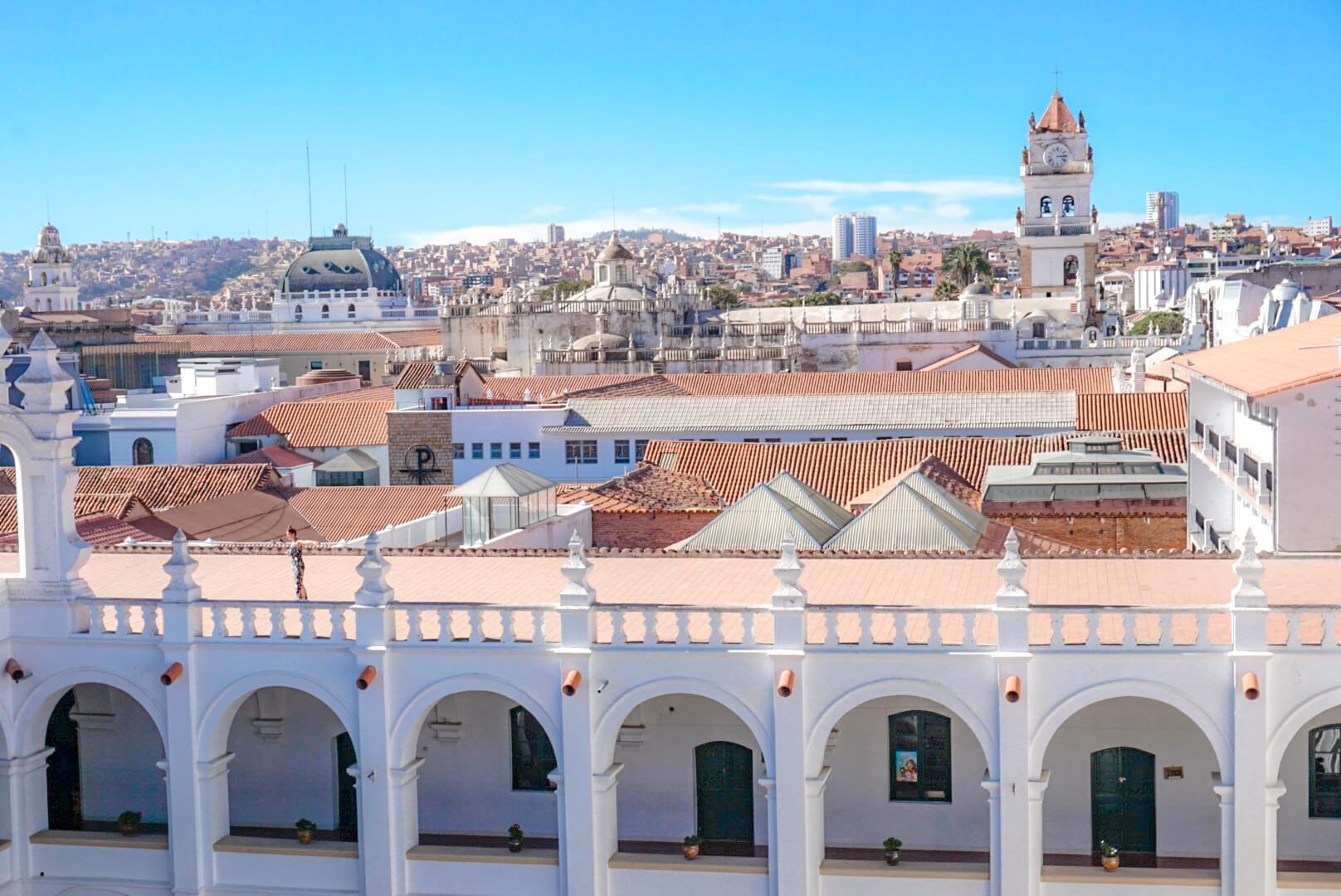 monter sur le toit couvent iglesia san felipe de neri sucre bolivie