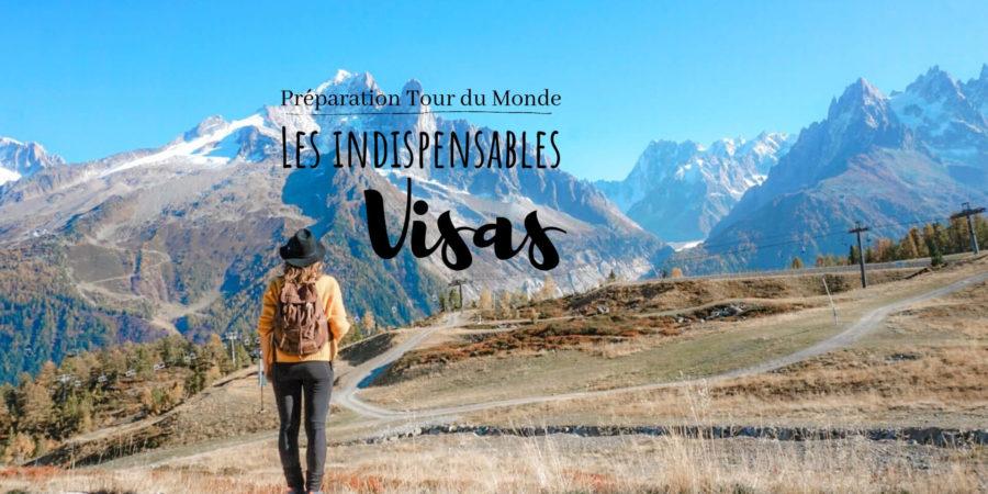 préparer visas tour du monde