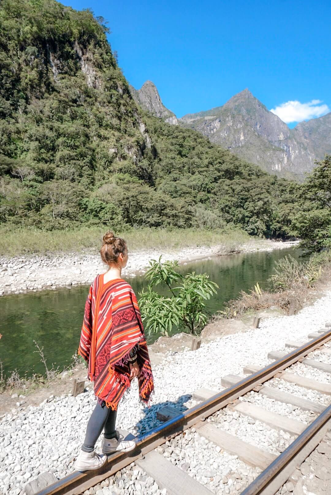 randonnée hidroelectrica machu picchu aguas calientes