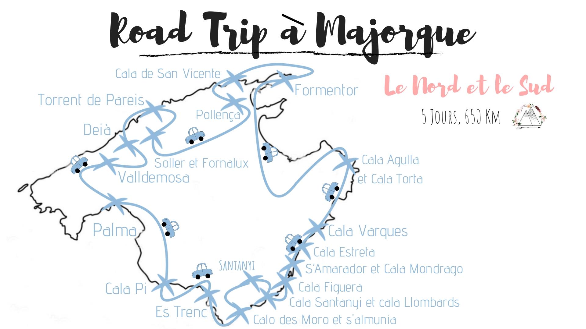 itinéraire road trip majorque idée blog