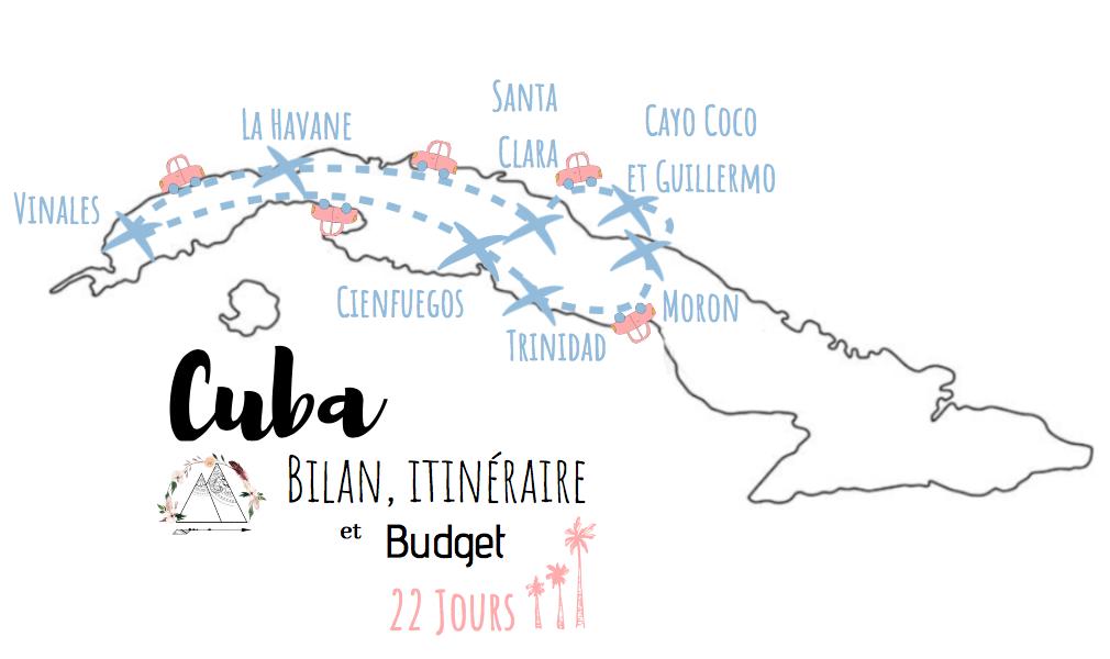 itinéraire et budget visiter cuba