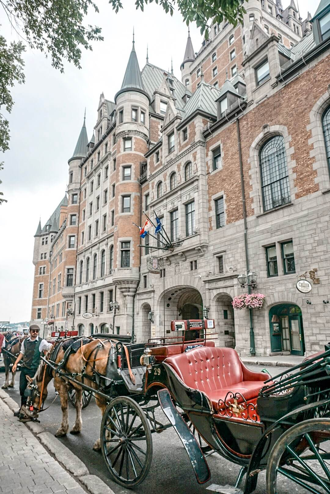Quebec chateau de fontenac canada