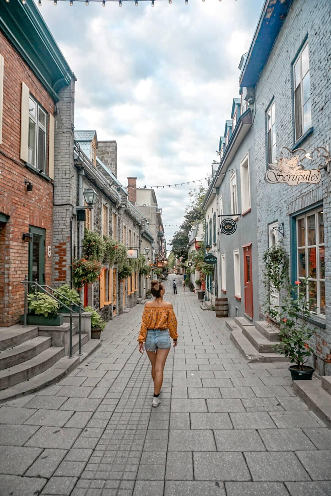 quebec quartier du petit champlain vieille ville