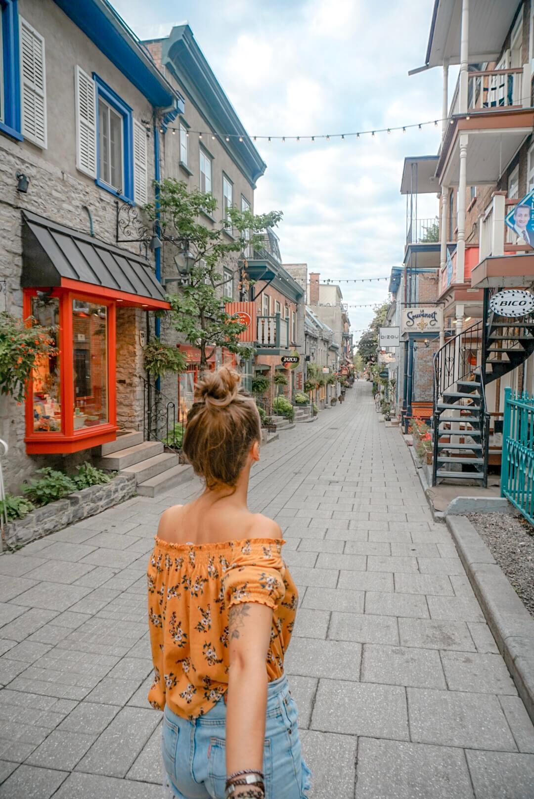 visiter rue du petit champlain quebec blog voyage