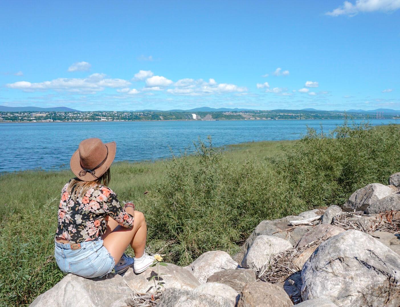 trouver point de vue ile orleans quebec canada