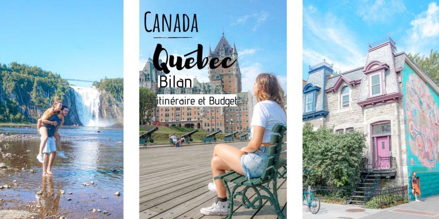 idée itinéraire budget quebec canada