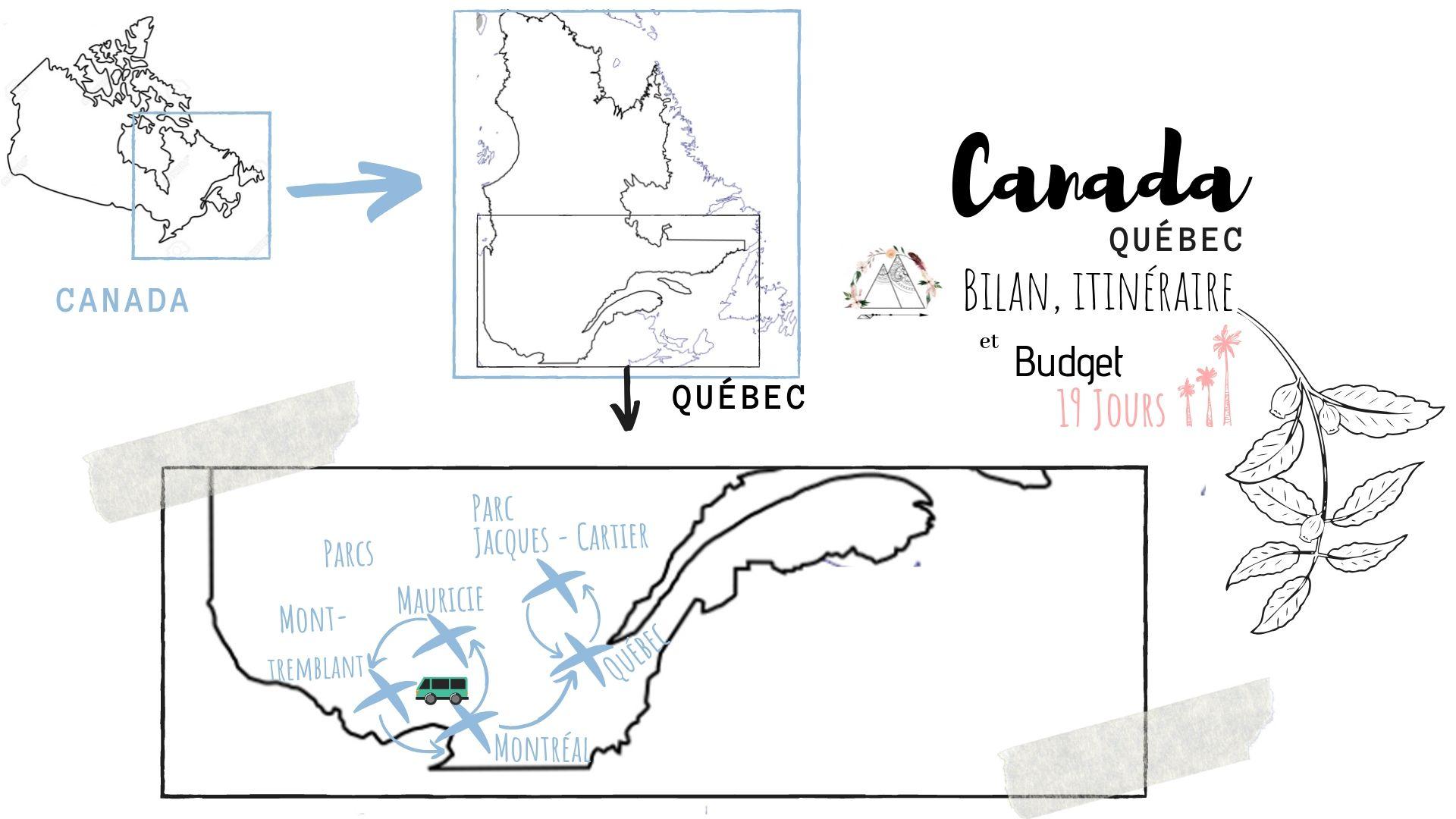 itinéraire budget road trip quebec blog