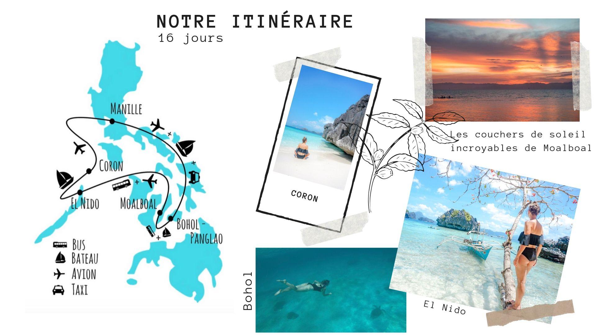 itinéraire voyage aux philippines 2 semaines idée conseil