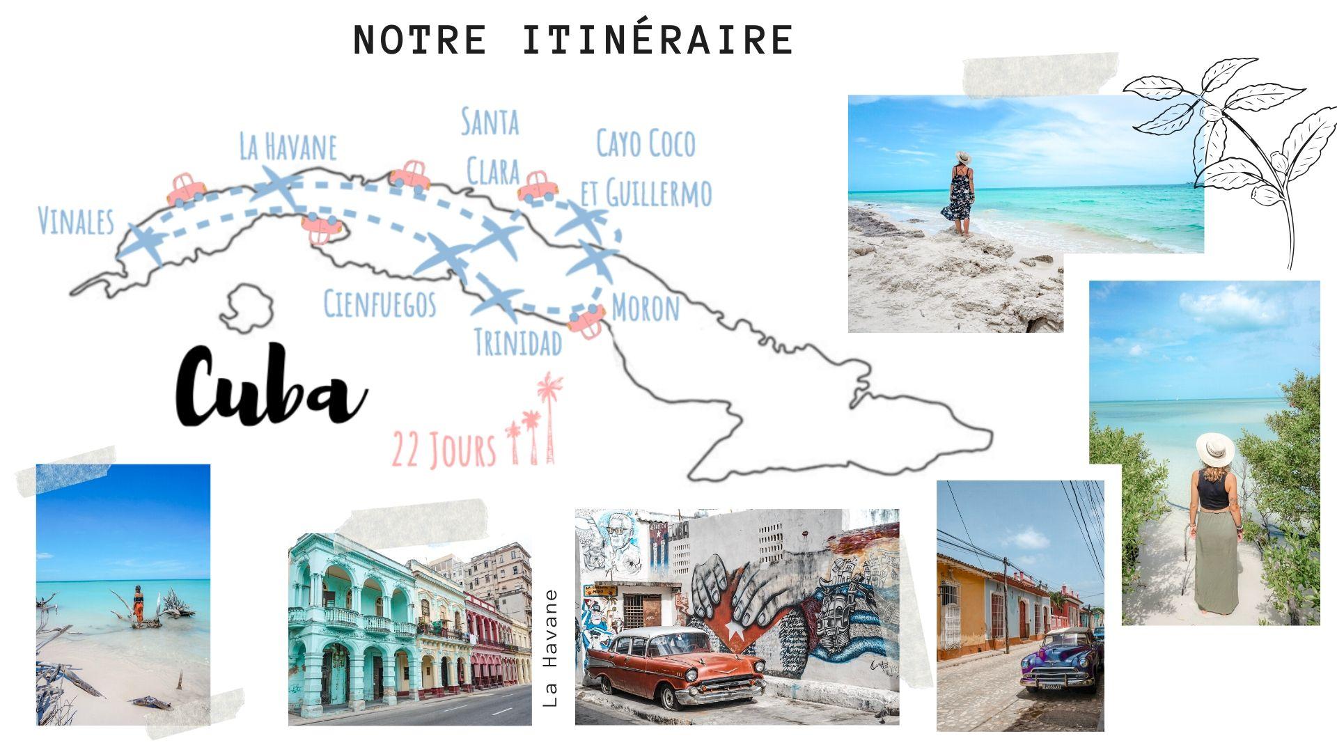 itinéraire pour visiter cuba