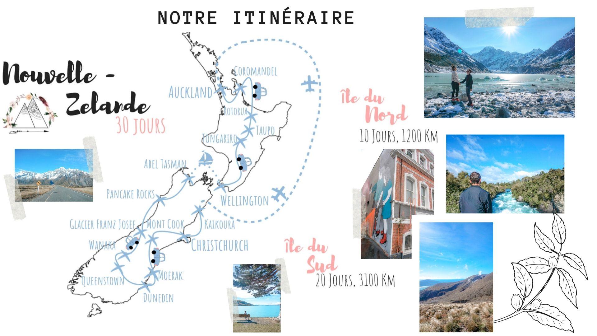 itinéraire raod trip nouvelle zélande conseil