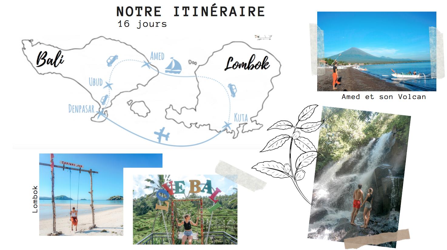 itinéraire 2 semaine indonésie bali lombok