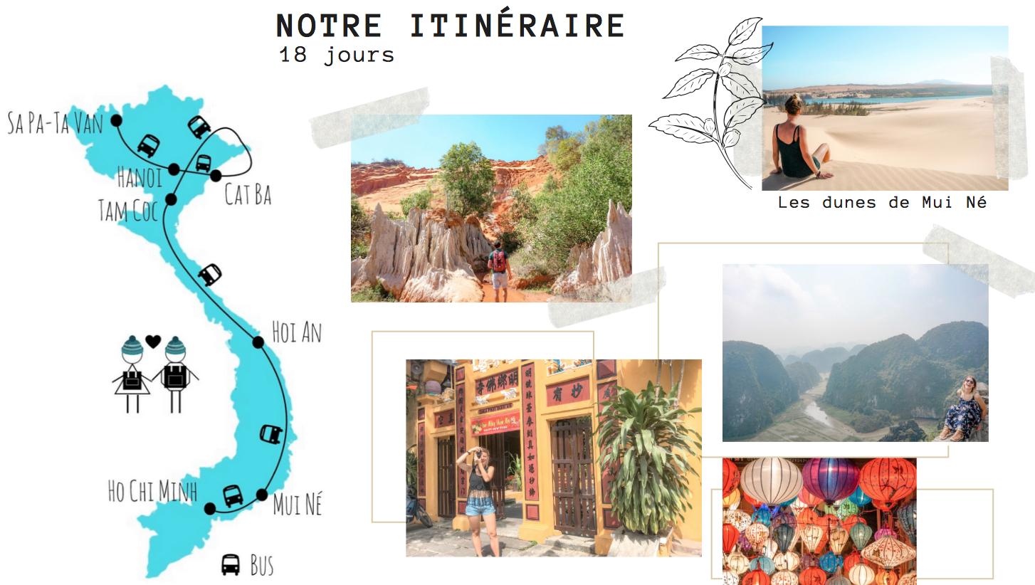 idée itinéraire voyage visiter le vietnam 3 semaines blog