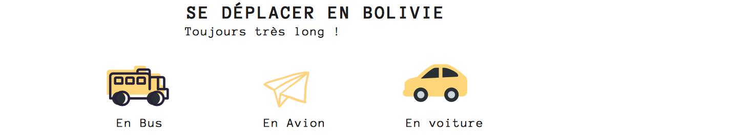 transport pour visiter la bolivie