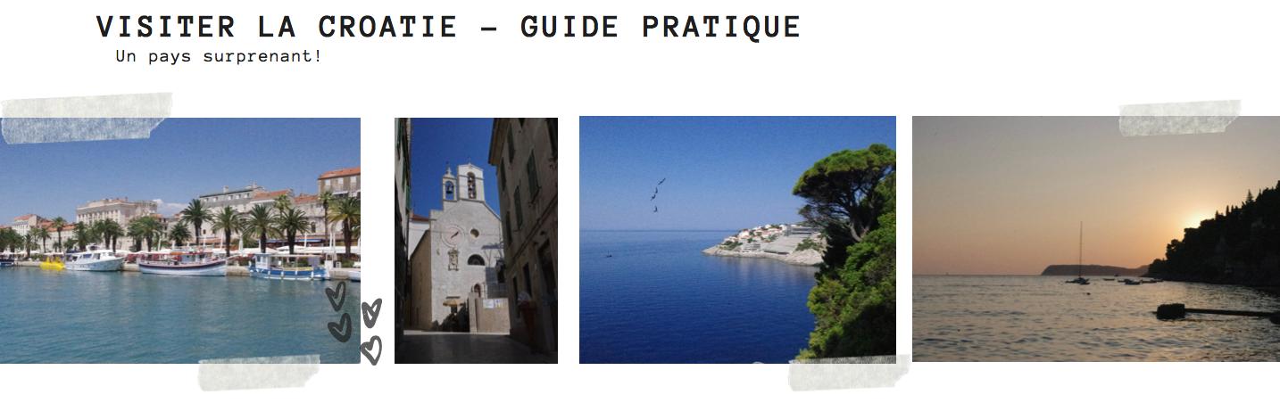 guide pratique pour visiter la croatie