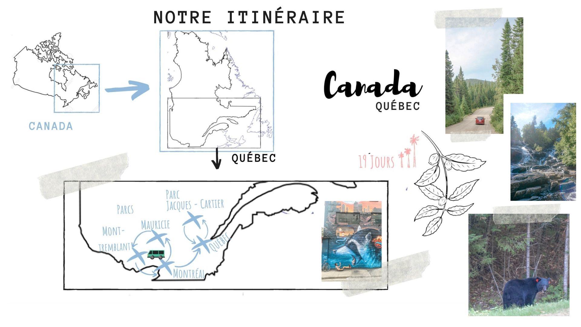 itinéraire guide pratique quebec blog