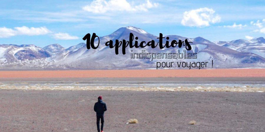 application pour voyager