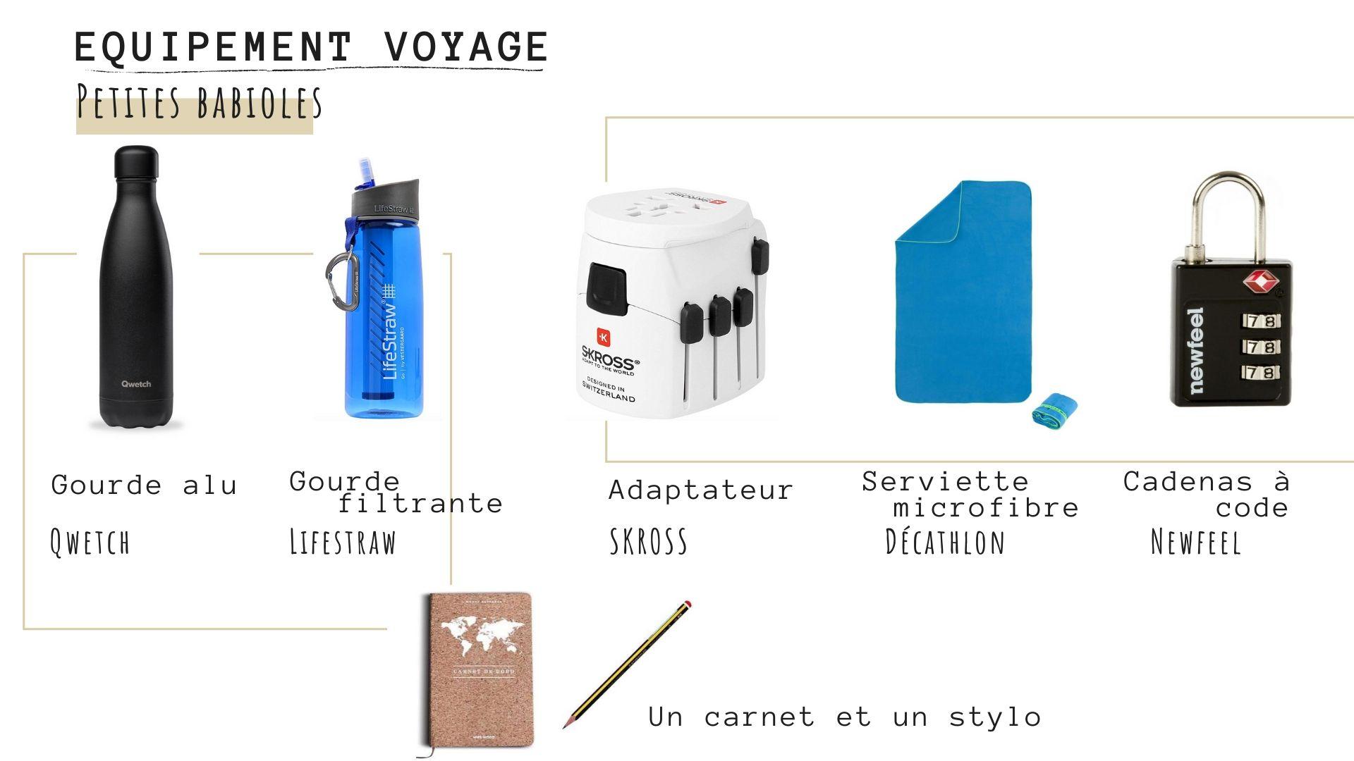 petit matériel utile en voyage
