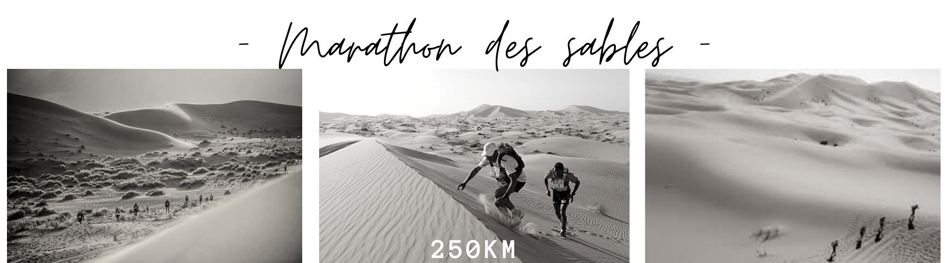 Marathon de sables trail running