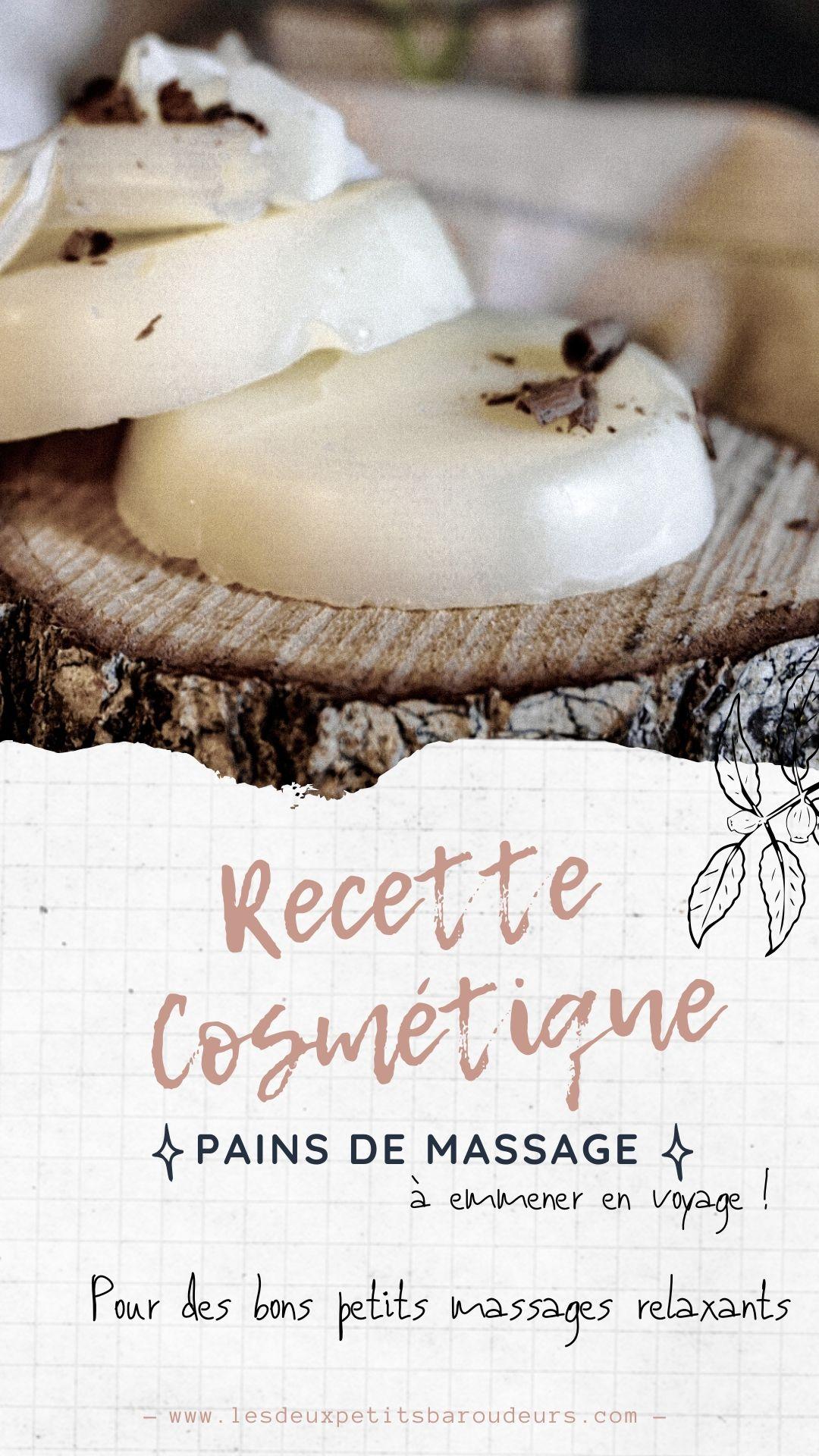 recette cosmétique massage