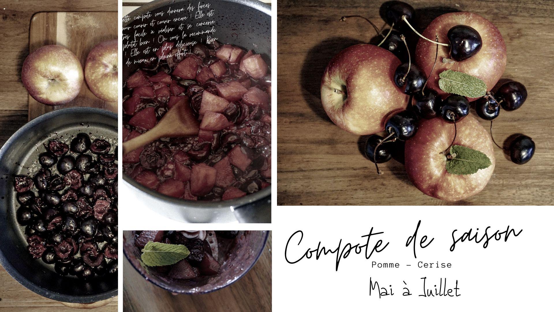compote pomme cerise maison sport