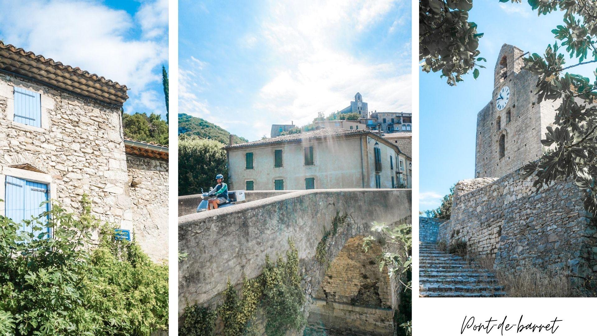 visiter pont de barret drome provençale