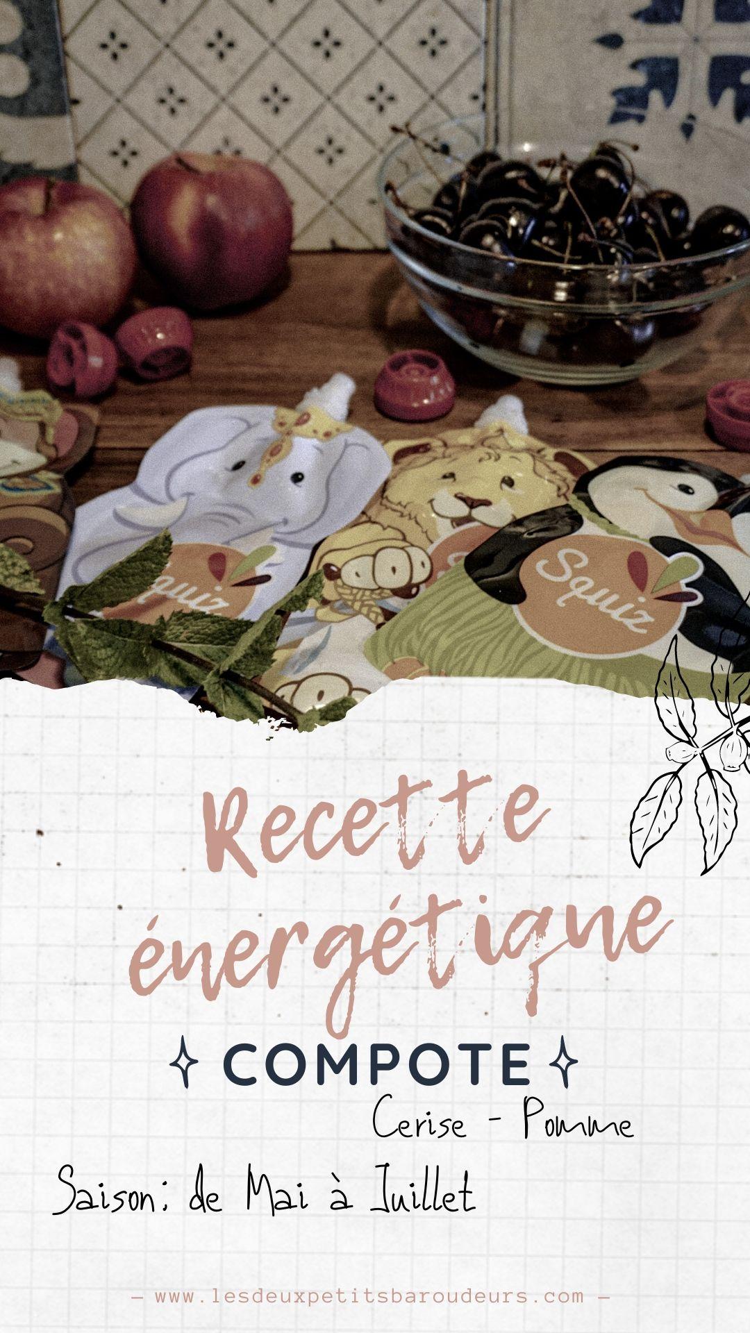 recette compote énergétique pomme cerise maison